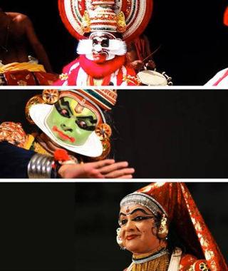 Progagande active Théâtre-dansé Kathakali - Troupe Margi du Kérala