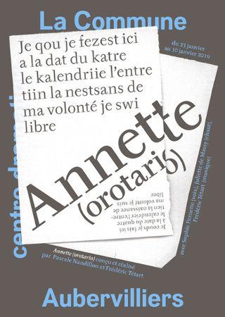 Soutien solidaire Annette (oratorio)