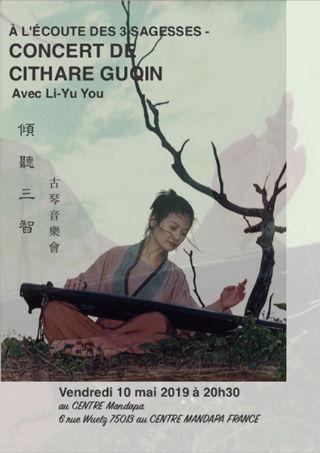 Soutien solidaire À l'écoute des 3 sagesses – Concert de cithare chinoise