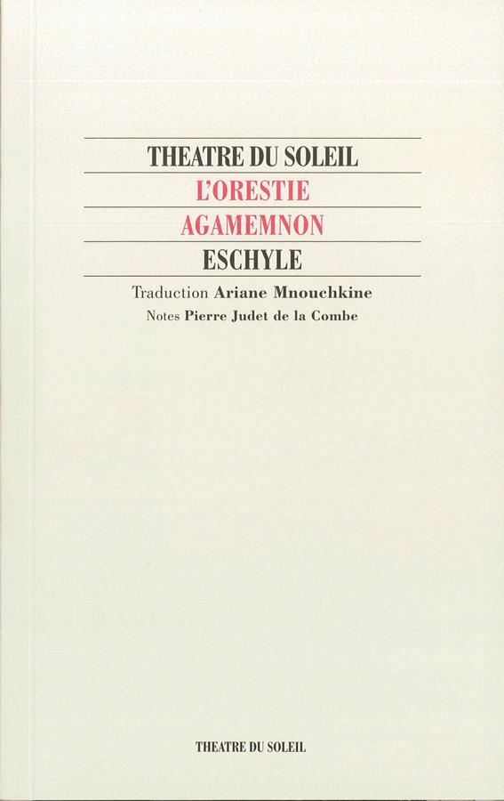 livre L'Orestie / Agamemnon en français