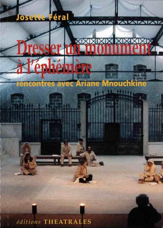 livre Dresser un monument à l'éphémère en français