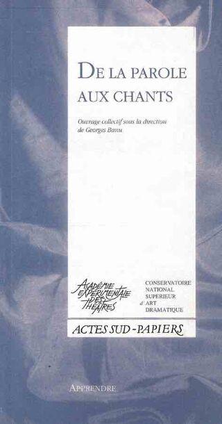 livre De la parole au chant   1995