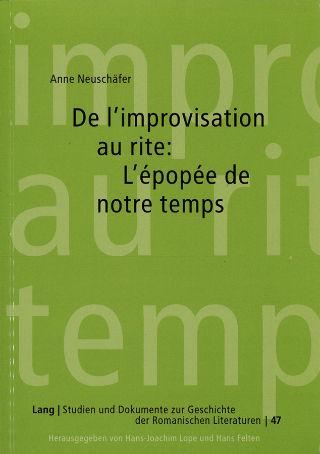 livre De l'improvisation au rite 2002