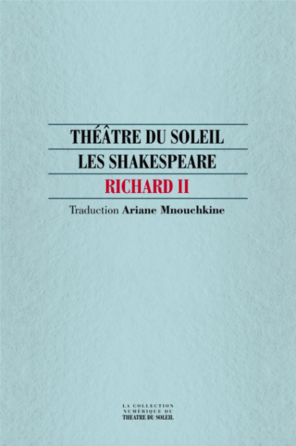 livre Richard II en français