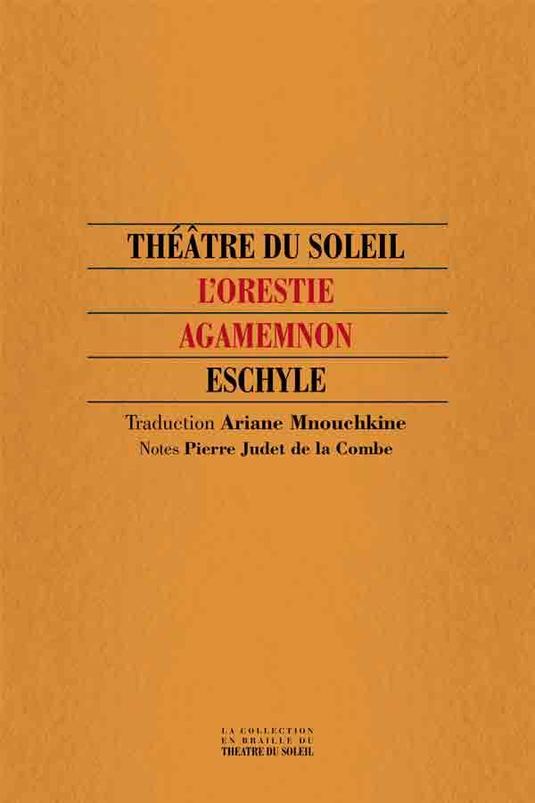 livre Agamemnon en braille