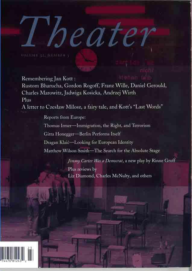 livre Theater en anglais