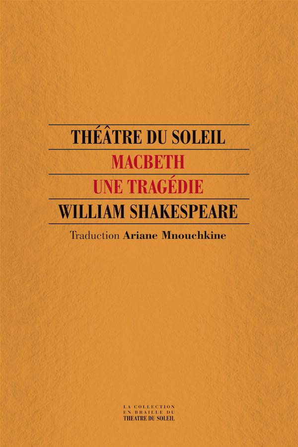 livre Macbeth en braille