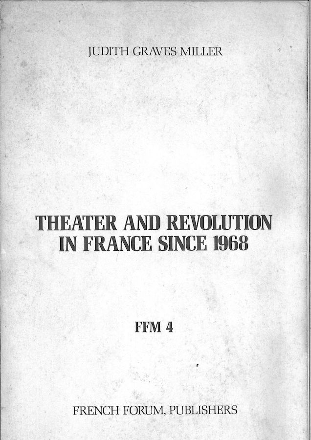 livre Theater and Revolution in France since 1968 en anglais