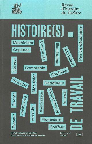livre Revue d'histoire du théâtre 2020